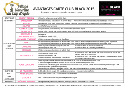 Avantages Carte Black 2015