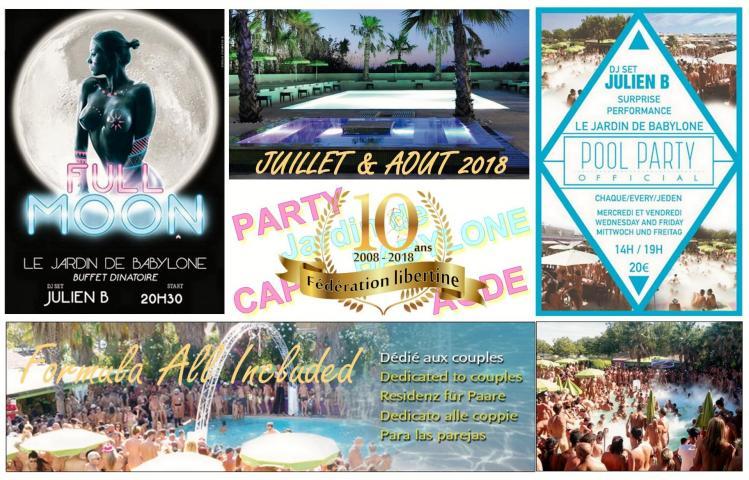 Pool Party Jardin de Babylone Inclus