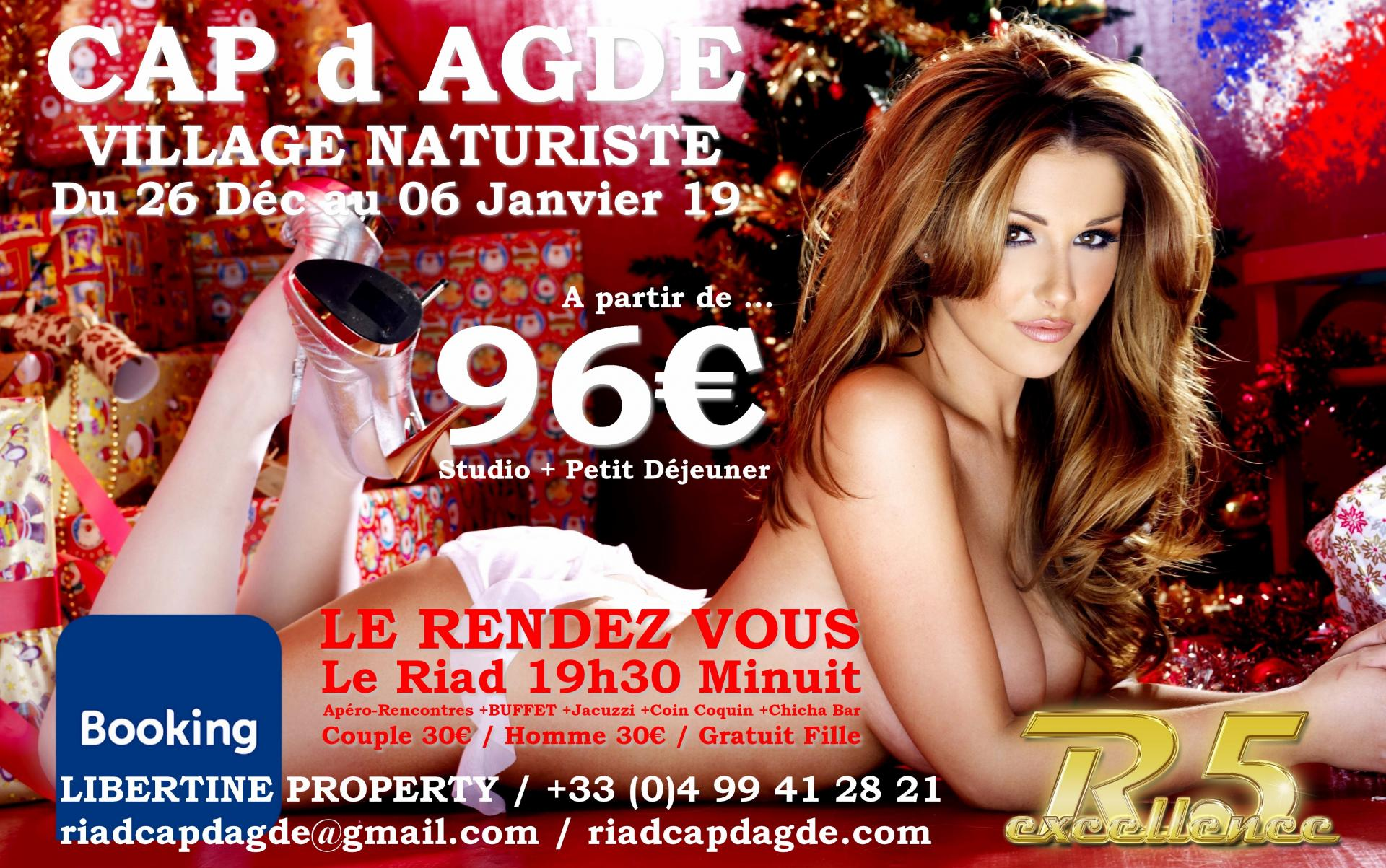 VILLAGE NATURISTE du CAP d AGDE - 6 Agency and Partner Hotel - LE RENDEZ VOUS FEDERATION LIBERTINE - Plage Le Galion - 18 PARTNER RESTAURANTS - Pool  Party Babylone - JARDIN d EDEN - Waiki Beach - CONCIERGERIE 24/24 - Sortie Mer TheLoveBoat