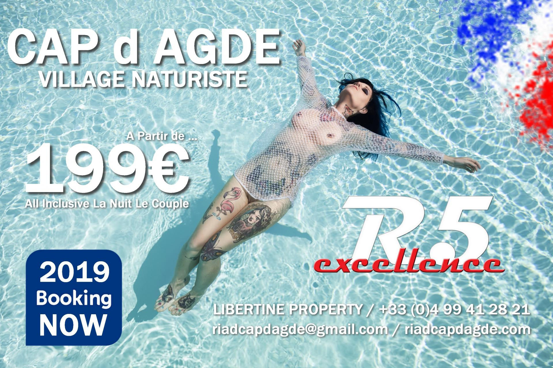 BOOKING R5 VILLAGE NATURISTE DU CAP d AGDE